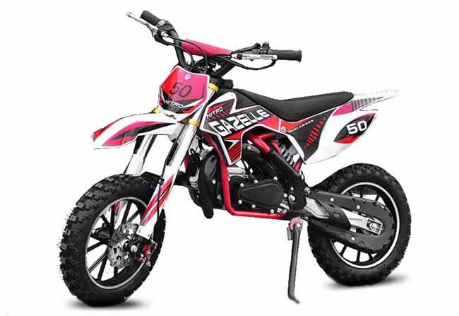 """Minicross Gazelle 10"""" červená mini cross s elektrickým startem"""