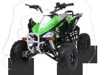 """Dětská čtyřkolka Speed 125cc zelená 7"""" automat"""
