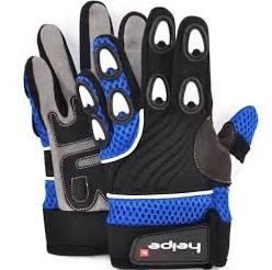 Dětské moto rukavice modré