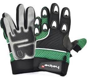 Dětské moto rukavice zelené