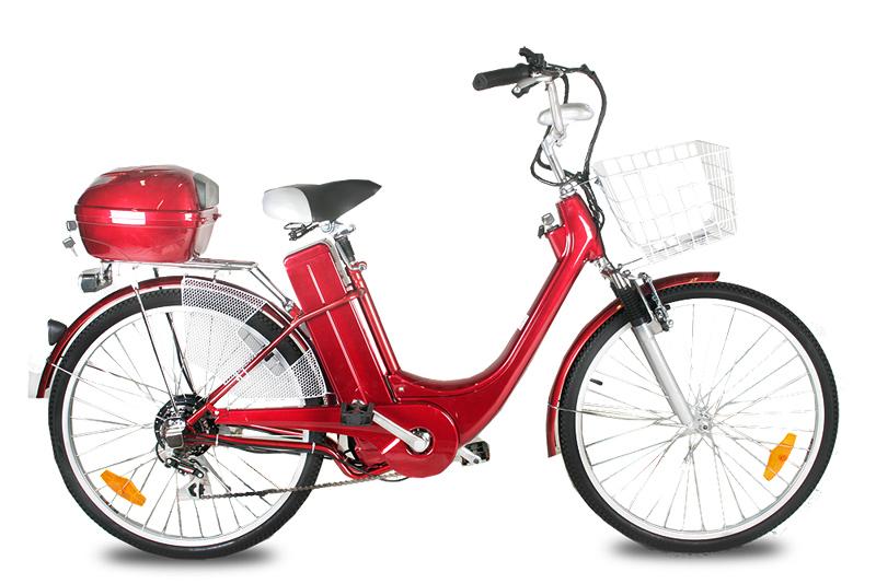 """Elektrokolo City Bike 26"""" červené"""
