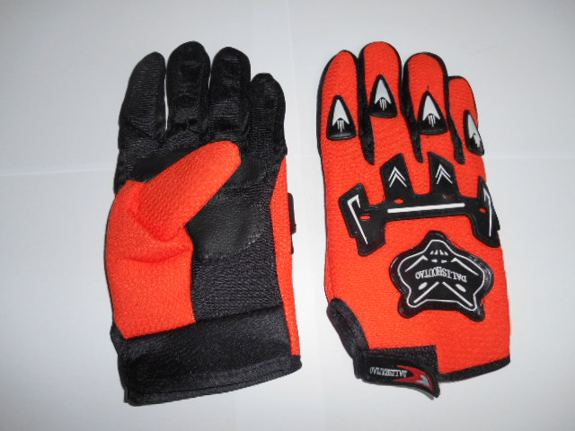 Moto rukavice oranžové