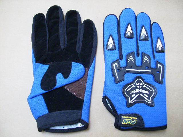 Moto rukavice modré