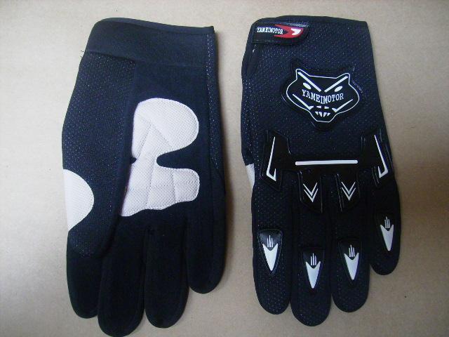 Moto rukavice černé