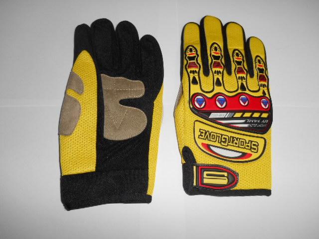 Moto rukavice žluté