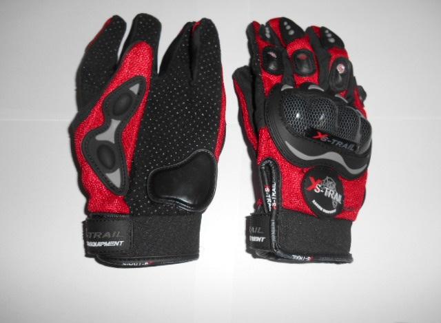 Moto rukavice červené