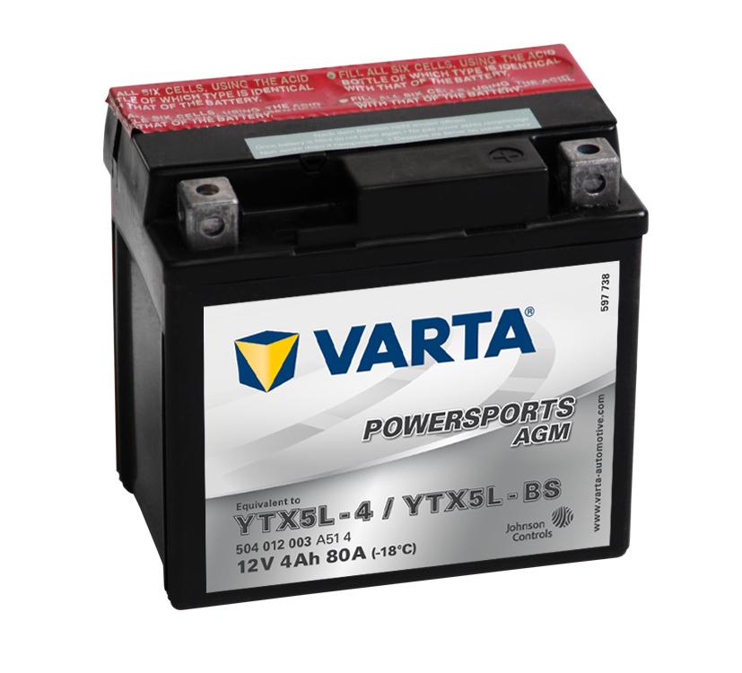 Baterie pro čtyřkolku 12V 4Ah zn. Varta