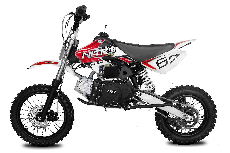 """Pitbike Storm 125ccm 14/12"""" červený automat s el. startem"""