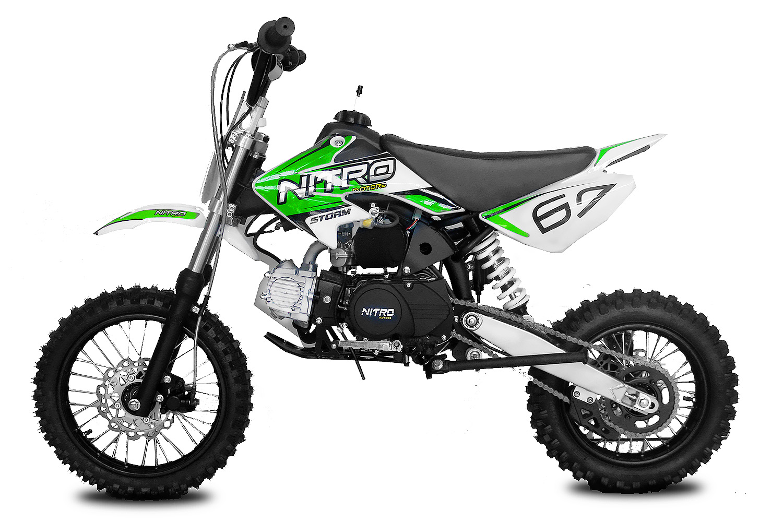 "Pitbike Storm 125ccm 14/12"" zelený automat s el. startem"