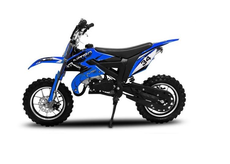 "Minicross Flash Sport 10"" modrá mini cross"