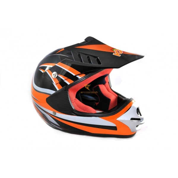Dětská moto helma KXD oranžová - Dětská moto přilba
