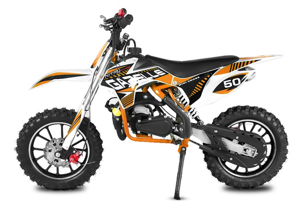 """Minicross Gazelle 10"""" oranžová mini cross s elektrickým startem"""