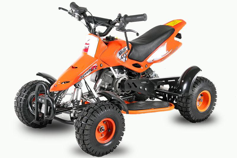 Dětská čtyřkolka Sios Nitro 49ccm oranžová