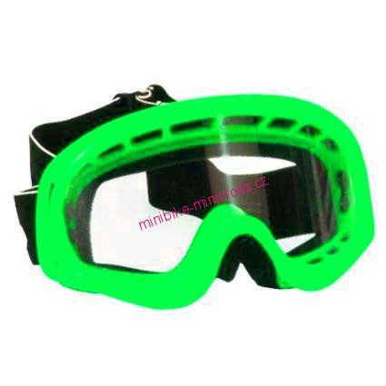a97d09e26 Dětské moto brýle zelené na minicross a čtyřkolku