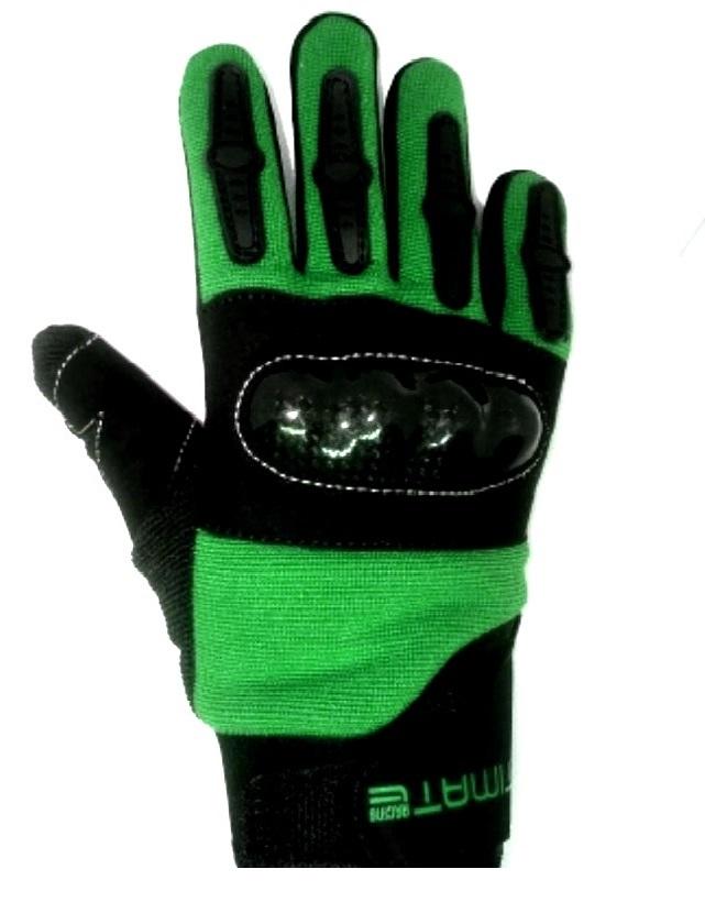 8c725ce26 Dětské moto rukavice zelené