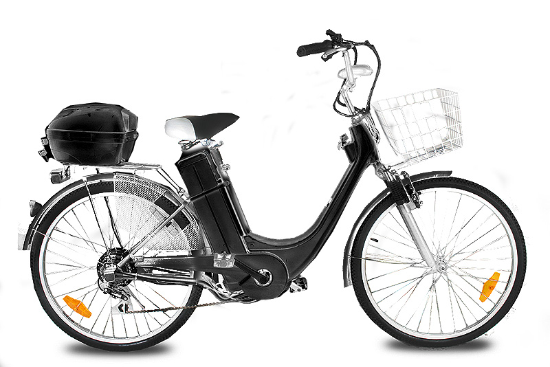 Elektro kolo City bike black