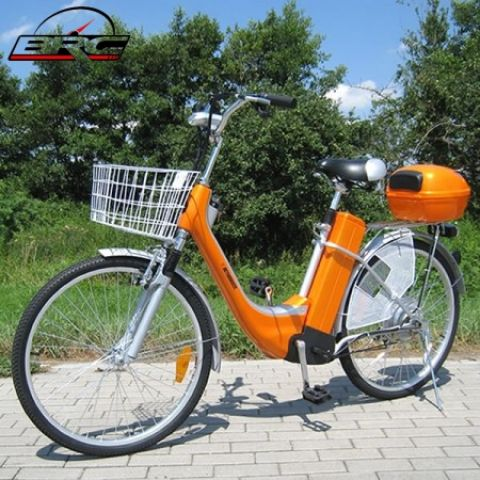 Elektro kolo City bike orange