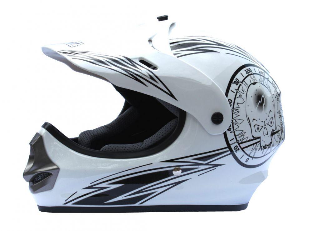 Dětské moto boty Kimo na minicross bílé 1b57912f42