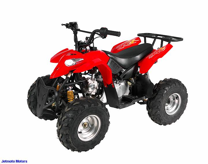 "Mini ATV Nitro Pollaris 125ccm 7"" červená"